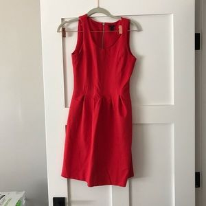 P0 Jcrew Red Ponte Dress